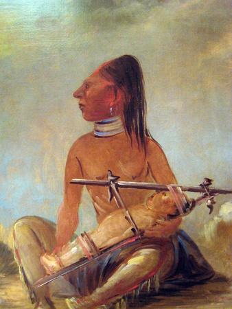 George Catlin Native American Woman With Baby