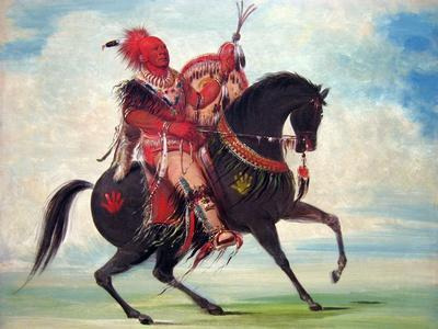 George Catlin; The Sac And Fox Rider On A Horse
