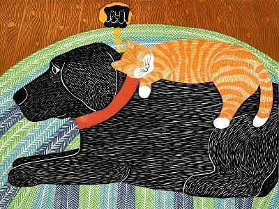 Catnap-Striped Cat Black-Stephen Huneck-Giclee Print