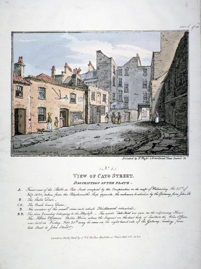 Cato Street, Marylebone, London, 1820-F Moser-Giclee Print