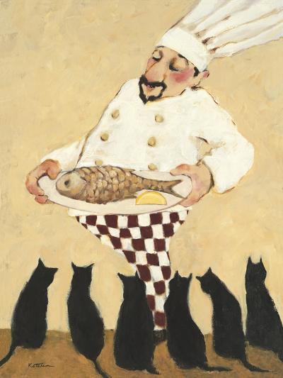 Cats and Fish-Carole Katchen-Premium Giclee Print