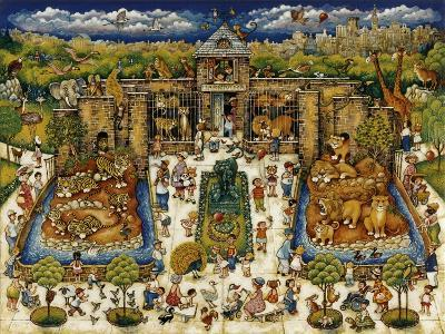 Cats and Kids at the Zoo-Bill Bell-Giclee Print