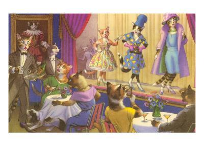 Cats at the Fashion Show--Art Print