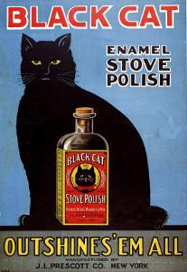 Cats Black Cat Enamel Stove Polish Products, USA, 1920