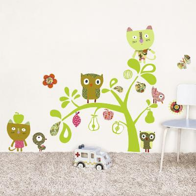 Cats, Owls, birds--Wall Decal