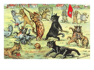 Cats Playing Soccer--Art Print