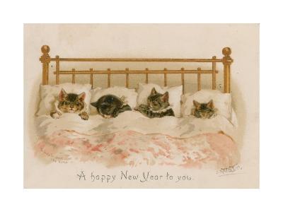 Cats Sleeping--Giclee Print