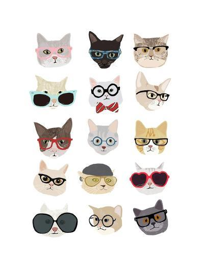 Cats with Glasses-Hanna Melin-Art Print