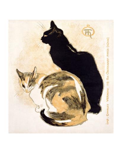 Cats-Th?ophile Alexandre Steinlen-Giclee Print