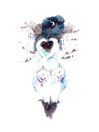 Cats-okalinichenko-Art Print