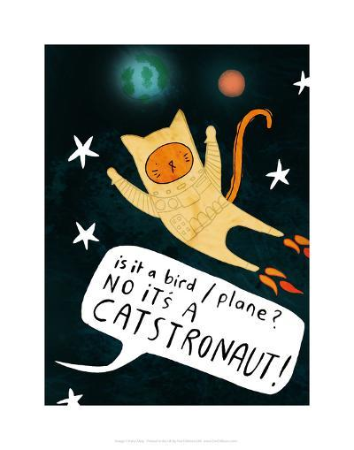 Catstronaut - Katie Abey Cartoon Print-Katie Abey-Art Print