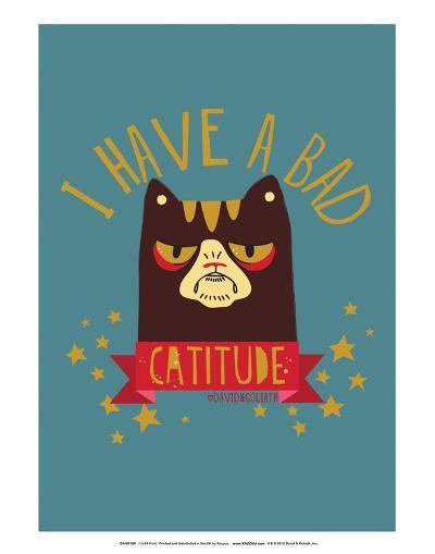 CATTITUDE - David & Goliath Print-David & Goliath-Art Print