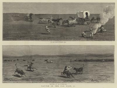 Cattle in the Far West, II-John Charles Dollman-Giclee Print