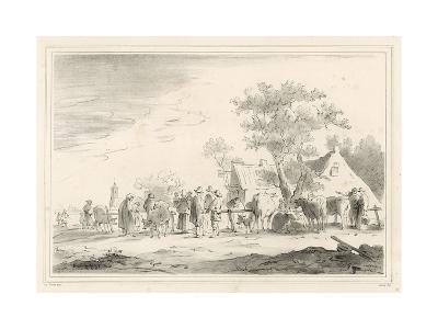 Cattle Market-Jan Van Goyen-Giclee Print