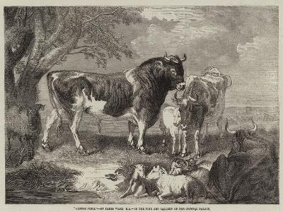 Cattle Piece--Giclee Print
