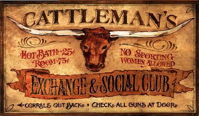 Cattleman's Vintage--Wood Sign