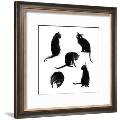 Caturdays-Sam Nagel-Framed Art Print