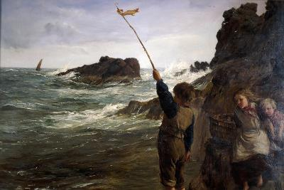 Caught by the Tide, 1869-James Clarke Hook-Giclee Print