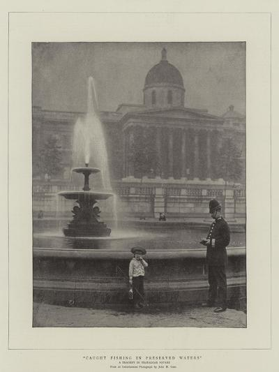 Caught Fishing in Preserved Waters, a Tragedy in Trafalgar Square--Giclee Print