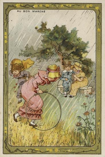 Caught Out in the Rain--Giclee Print