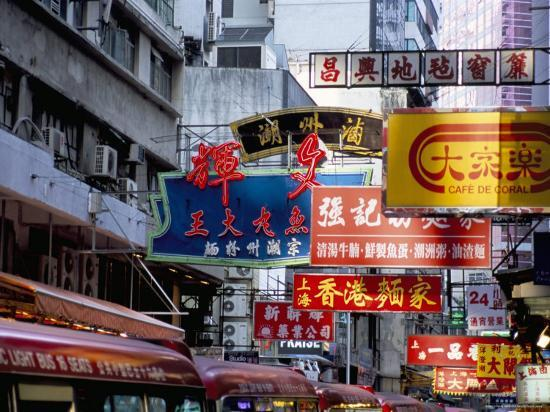 Causeway Bay, Hong Kong Island, Hong Kong, China-Amanda Hall-Photographic Print