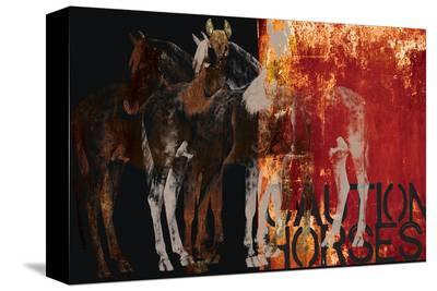 Caution Horses-Parker Greenfield-Stretched Canvas Print