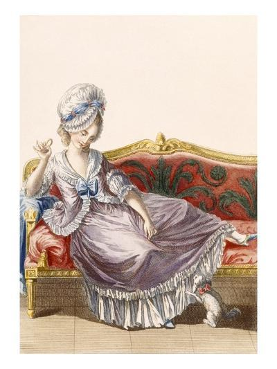 Cavaco a La Polonaise, Engraved by Dupin, Plate from 'Galeries Des Modes Et Costumes Francais'-Pierre Thomas Le Clerc-Giclee Print