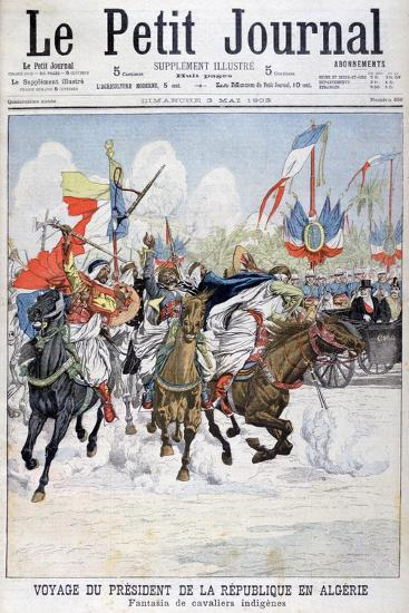 Cavalcade of Native Troops During the Visit of President Loubet to Algeria, 1903--Giclee Print