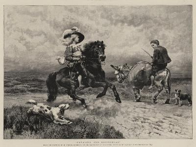 Cavalier and Roundhead-William Strutt-Giclee Print