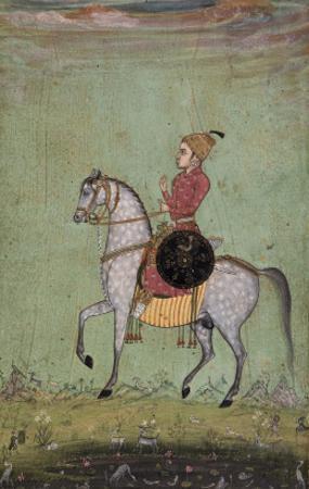 Cavalier armé d'un bouclier
