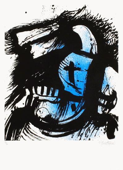 Cavalier bleu-John Christoforou-Limited Edition