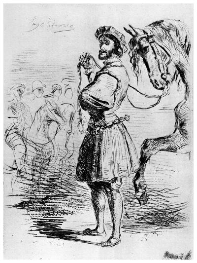 Cavalier Francais, C1820-1860-Eugene Delacroix-Giclee Print
