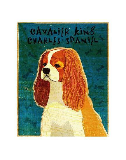 Cavalier King Charles (blenheim)-John Golden-Art Print