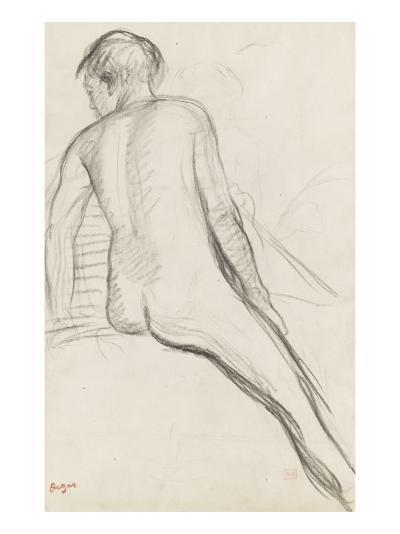 Cavalier nu-Edgar Degas-Giclee Print