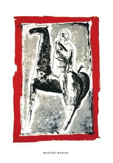 Cavaliere, c.1955-Marino Marini-Serigraph