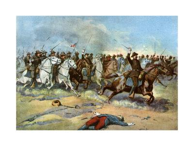 Cavalry Charge by Us Regulars, Spanish-American War, 1898--Giclee Print