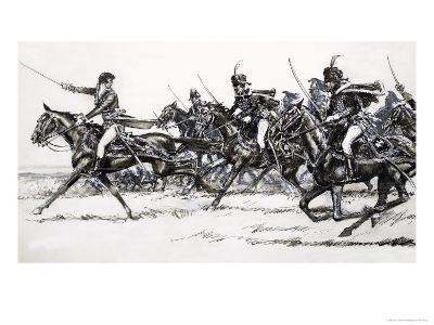 Cavalry Charge-John Millar Watt-Giclee Print
