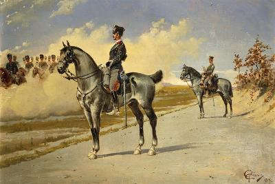 Cavalry Officer by E. Ghione, 1899--Giclee Print