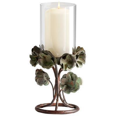 Cavan Green Rose Candleholder - Small *