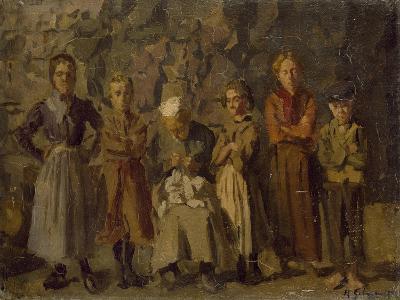 Cave Dwellers, Dieppe, 1907-Harold Gilman-Giclee Print