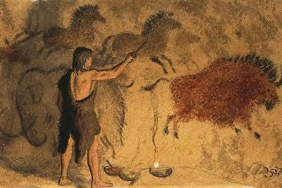 Cave Painters-Ronald Lampitt-Giclee Print