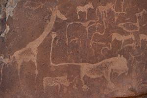 Cave Paintings by Bushmen, Damaraland, Namibia