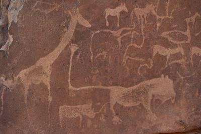 Cave Paintings by Bushmen, Damaraland, Namibia
