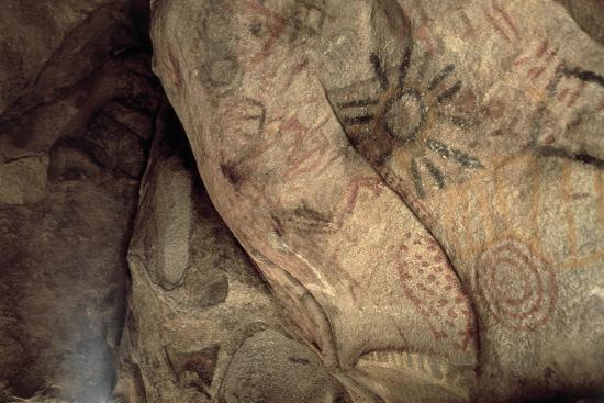 Cave Paintings Near Village of Catavina, Central Desert, Baja California Norte, Mexico--Giclee Print