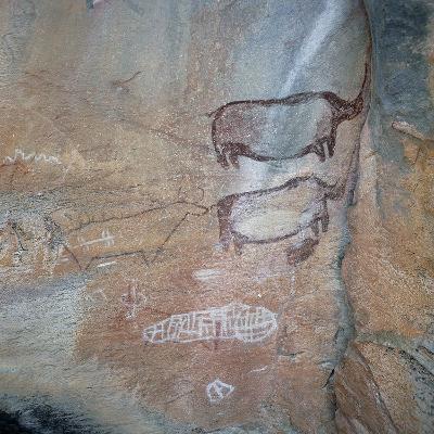 Cave Paintings, Tsodilo Hills, Botswana--Giclee Print