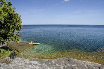 Cave Point County Park, Lake Michigan, Door County, Wisconsin, USA-Cindy Miller Hopkins-Photographic Print