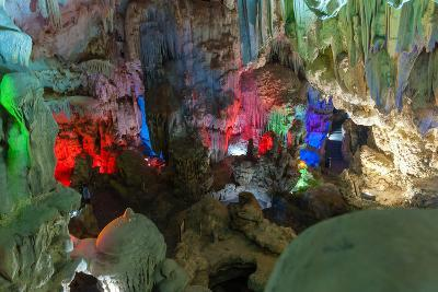 Cavern on Island, Ha_Long Bay, Vietnam-Maks08-Photographic Print