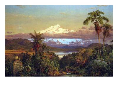 Cayambe, Ecuador-Frederic Edwin Church-Art Print