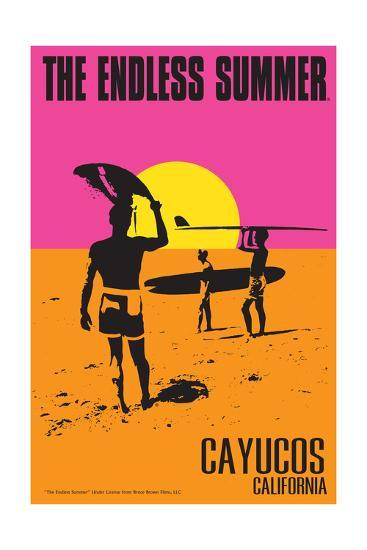Cayucos, California - the Endless Summer - Original Movie Poster-Lantern Press-Art Print