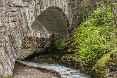 Ccc Bridge over Barring Creek, Sun Rift Gorge Pullout, Glacier NP-Michael Qualls-Photographic Print